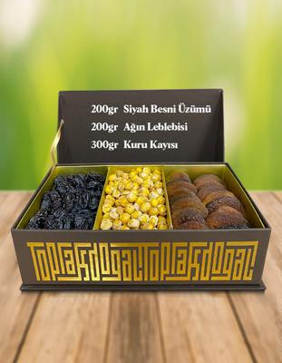Hediyelik Kutu 3 (Siyah Üzüm, Leblebi, K. Kayısı) - Thumbnail